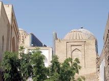 Samarkand Shakhi-Zindah mausoleer September 2007 Arkivfoton