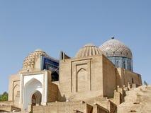 Samarkand Shakhi-Zindah mausoleerna September 2007 Arkivbilder