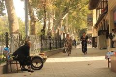 Samarkand-Straßenansicht Stockfotos
