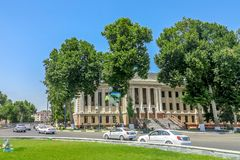 Samarkand University Boulevard Park 07 stock photography