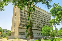 Samarkand University Boulevard Park 08 royalty free stock photos