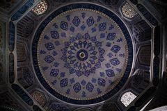 Complex fractal-like dome ceiling royalty free stock photos