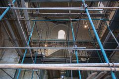 Restoration of the interior of the mosque Bibi Khanym Royalty Free Stock Images