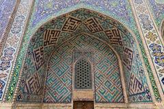 Samarkand, Uzbekistan, Silk Route. Samarkand, Uzbekistan, Registon main square admiring ancient monuments of Samarkand, of architectural pearl on the Silk Route royalty free stock images