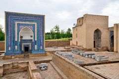 Samarkand, Uzbekistan, Silk Road. The historical necropolis of Shakhi Zinda was formed over eight & x28;from 11th till 19th& x29; centuries. Samarkand royalty free stock photo