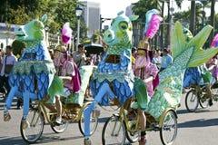 Samba carnival dancer Royalty Free Stock Images