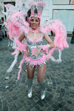 Samba Dance in Bucharest Festival of Stradal Theater 2015 with Santa Cruz group. At Roma Plaza in Bucharest, Romania, the last dance Stock Image
