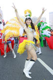 Samba dancer. Dancing on the carnival of Taipei marathon on Dec. 21, 2008 Stock Photo