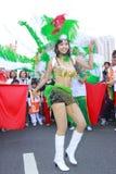Samba dancer. Dancing on the carnival of Taipei marathon on Dec. 21, 2008 Stock Photography