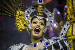 Samba Dancer en Carnaval Imagen de archivo