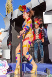 Samba dancer on a Float in the Brazilian style Carnaval Royalty Free Stock Photo