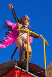 Samba dancer on a Float in the Brazilian style Carnaval Stock Photography