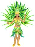 Samba dancer Royalty Free Stock Image