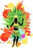 Samba dancer vector illustration