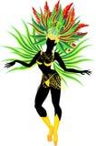 Samba dancer royalty free illustration