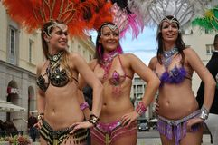 Samba dancers Royalty Free Stock Images