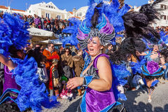Samba dancers in Ala Section, in the Brazilian Carnaval Royalty Free Stock Images