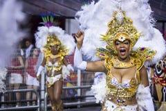 Samba Dancers in Carnaval Brazilië Royalty-vrije Stock Fotografie