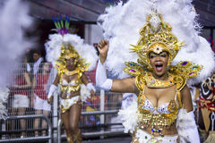 Samba Dancers at Carnival Brazil Royalty Free Stock Photography