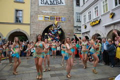 Samba dancers  in Coburg Royalty Free Stock Photos
