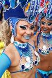 Samba dancers in a fiesta in Cartagena, Colombia Stock Photos
