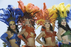 Samba dancers Royalty Free Stock Photography