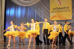 Samba dancers performed by children Royalty Free Stock Photos