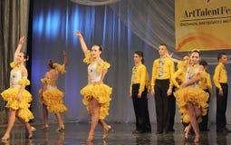 Samba dancers performed by children Stock Photo