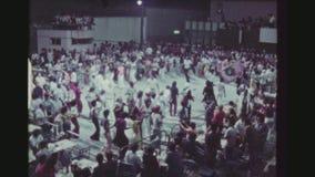 Samba del baile de la muchedumbre almacen de metraje de vídeo