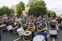 Samba do brazilica de Liverpool na cidade Fotografia de Stock Royalty Free
