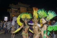 Samba do brazilica de Liverpool na cidade Simone Reeves Imagem de Stock Royalty Free