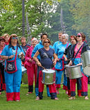 Samba drumming band Royalty Free Stock Photo