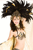 Samba girl. Young girl in a very elaborate costume Samba