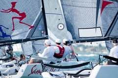 Samba Pa Ti threads the needle at Melges 20 Worlds Stock Images