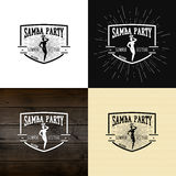 Samba party badges logos and labels for any use Stock Image