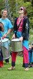 Samba pelo mar drummers Stock Images