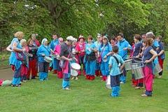 Samba pelo mar drumming band Royalty Free Stock Photography