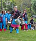 Samba pelo mar drumming band Royalty Free Stock Image