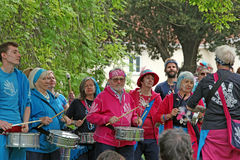 Samba pelo Mrz-Schlagzeuger Lizenzfreies Stockbild