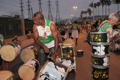 Samba przygotowanie instrumenty Zdjęcia Stock