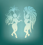 Samba queen dancing silhouette Royalty Free Stock Photography