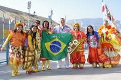 Samba school at Sambodromo in Rio de Janeiro Stock Images