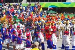 Samba school at Sambodromo in Rio de Janeiro Stock Photography