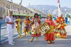 Samba school at Sambodromo in Rio de Janeiro Royalty Free Stock Image