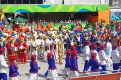Samba school at Sambodromo in Rio de Janeiro Stock Image