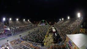 Samba School Scene alla parata dello stadio di carnevale di Sambodromo Immagine Stock Libera da Diritti
