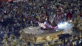 Samba School Scene alla parata dello stadio di carnevale di Sambodromo Fotografie Stock