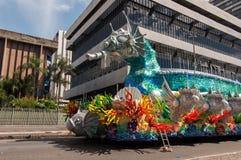 Samba School Vehicle i Rio de Janeiro arkivbilder