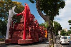 Samba School Vehicle i Rio de Janeiro royaltyfria bilder