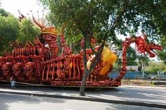 Samba School Vehicle i Rio de Janeiro royaltyfri foto